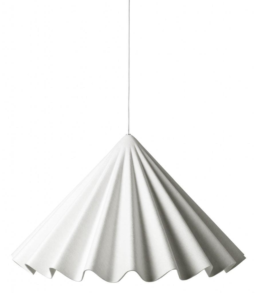 Plisowany abażur z ekologicznego filcu lampy Dancing, Fot. MENU