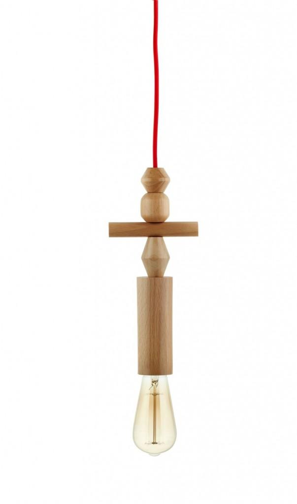 Lampy wiszące Woody Totem 4
