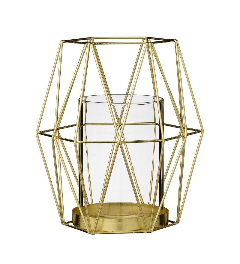 Złoty świecznik Bloomingville, Pufa Design