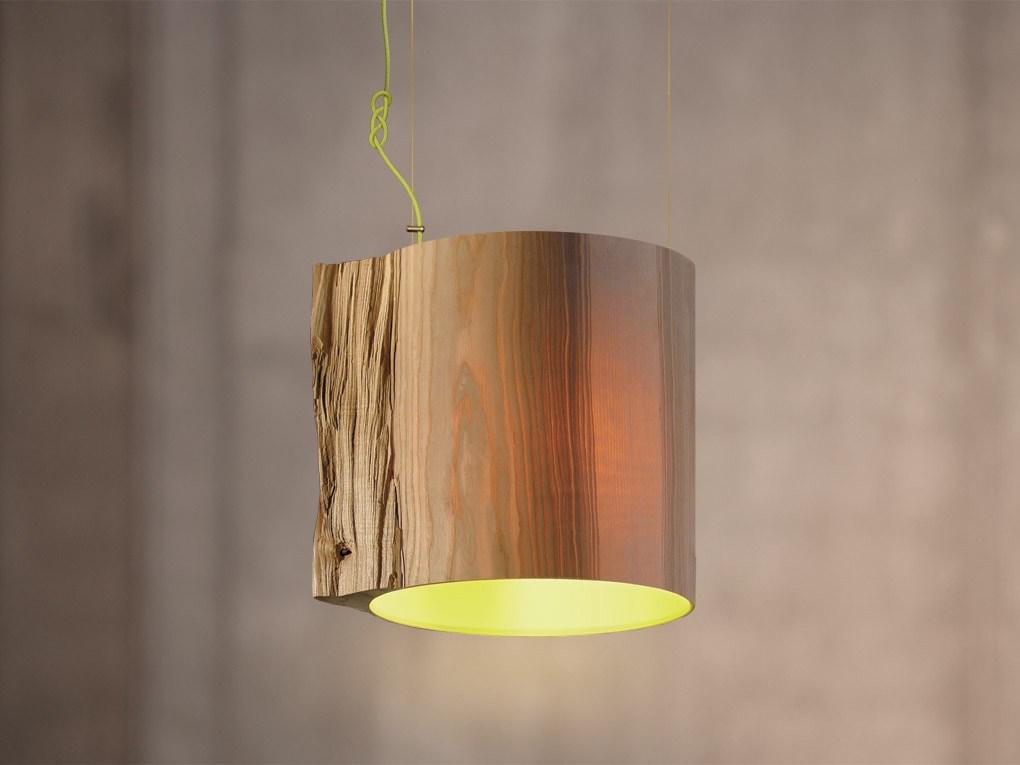 Lampa wisząca The Wise One - z zielonym wnętrzem, Pufa Design
