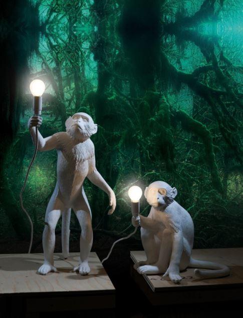 Animalistyczne lampy Monkey, Pufa Design