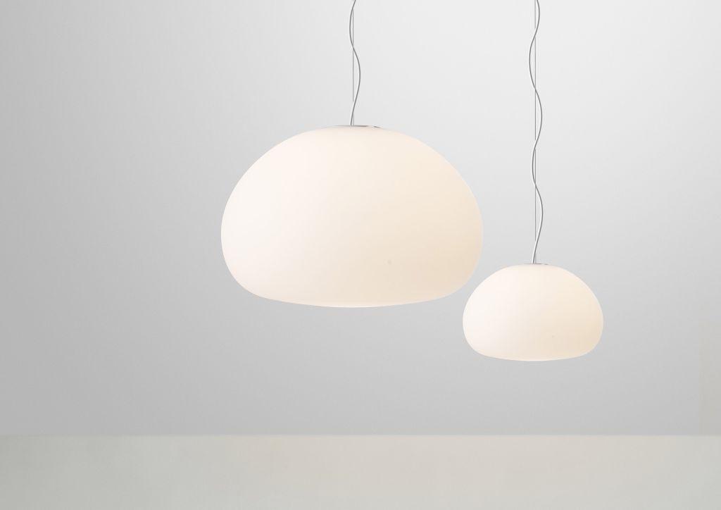 Lampa Fluid Muuto w dwóch rozmiarach, Pufa Design