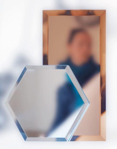 Lustro modułowe Mirrorized, Pufa Design