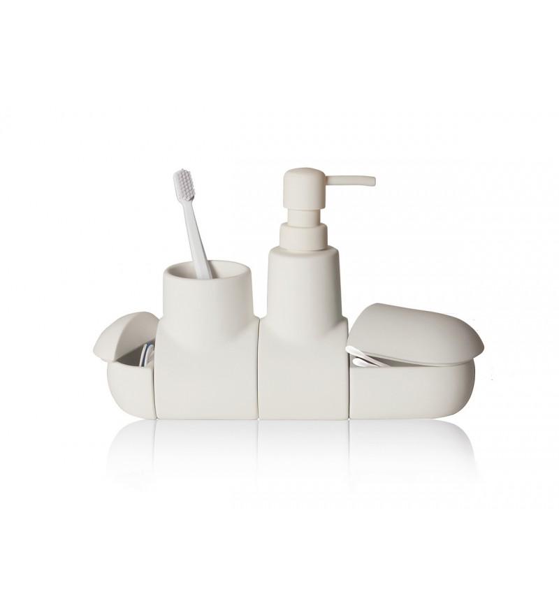 4-elementowy zestaw Submarino do łazienki, Pufa Design