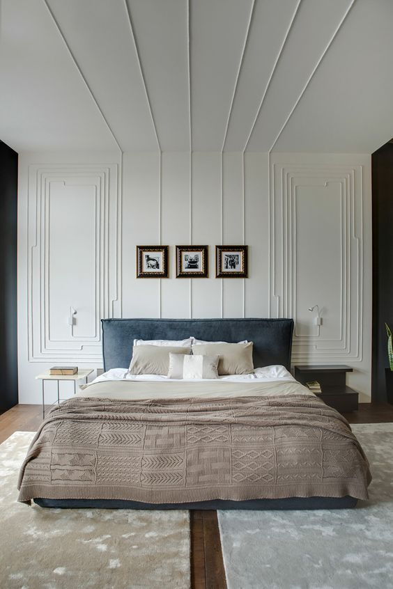 Przykład sypialni urządzonej harmonijnie i elegancko. Fot. Zeutch.com