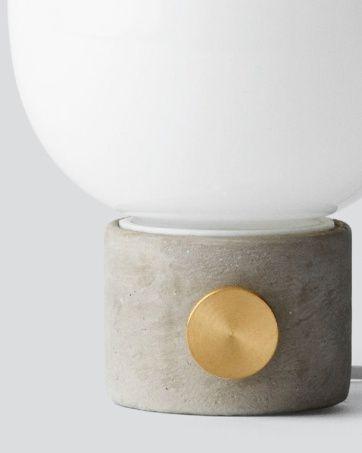 Lampa stołowa JWDA z betonu i szkła, Menu, Pufa Design