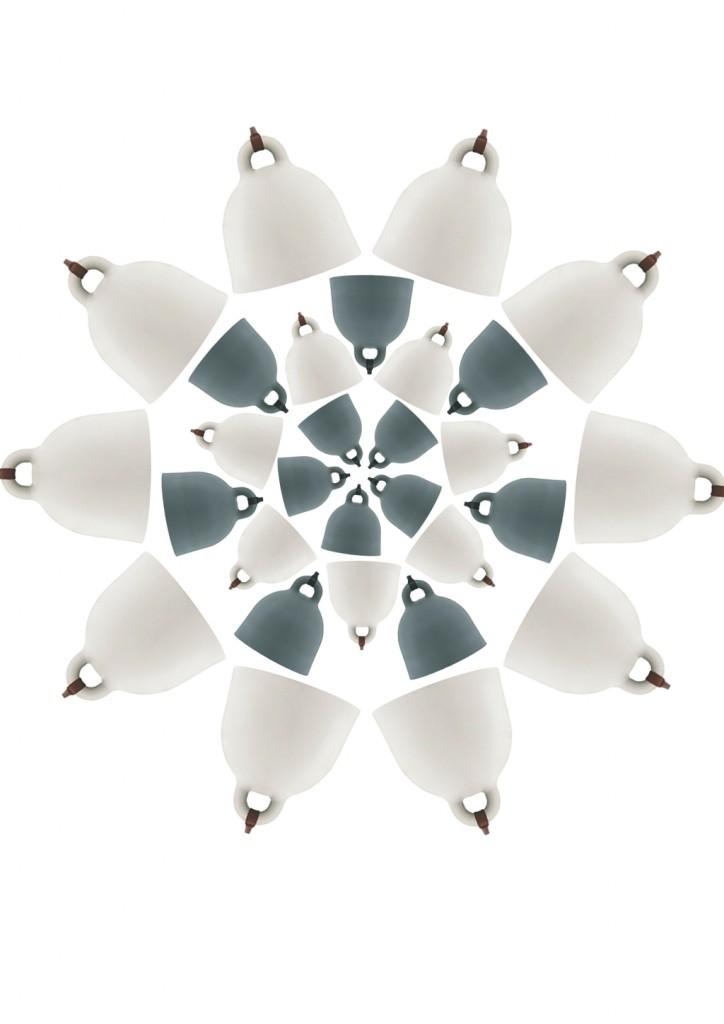 Urocze lampy Bell, Normann Copenhagen, Pufa Design