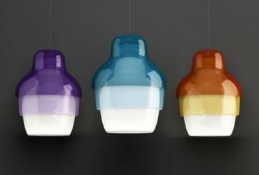 Efekt zestawienia, lampy Mtrioshka, Innermost, Pufa Design