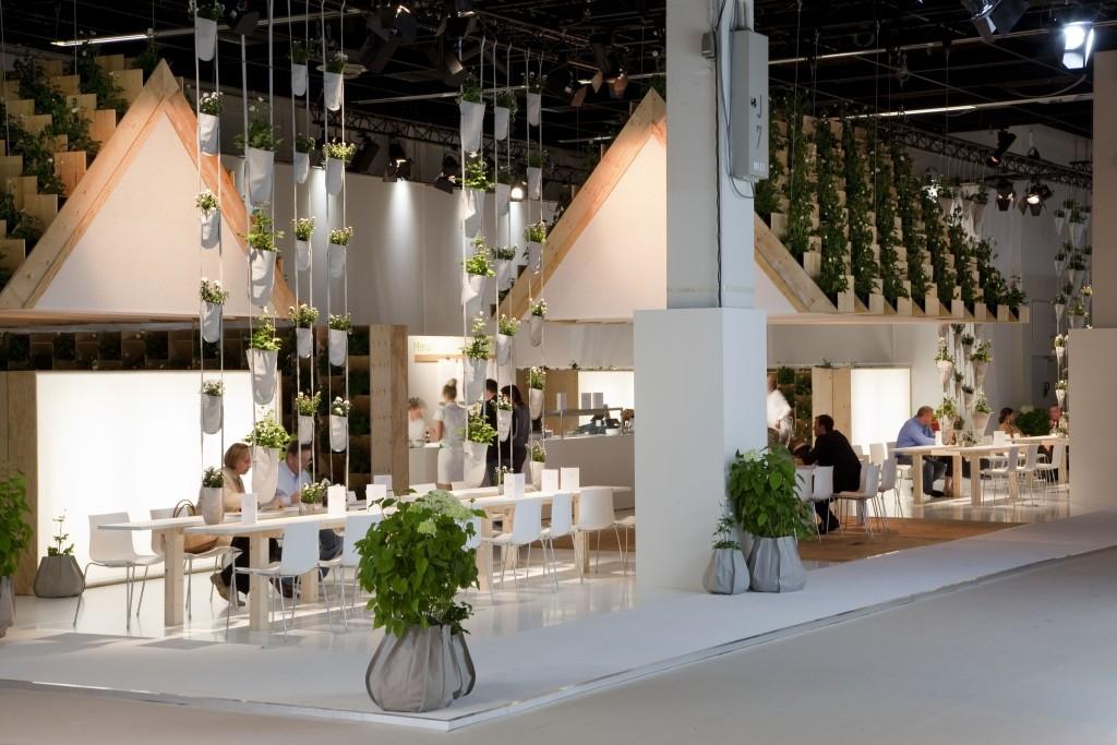 Unique Lounge - przestrzeń odpoczynku i spotkań - na targach SPOGA-Garden Fair 2012 w Koloni, fot. Patrick Nadeau