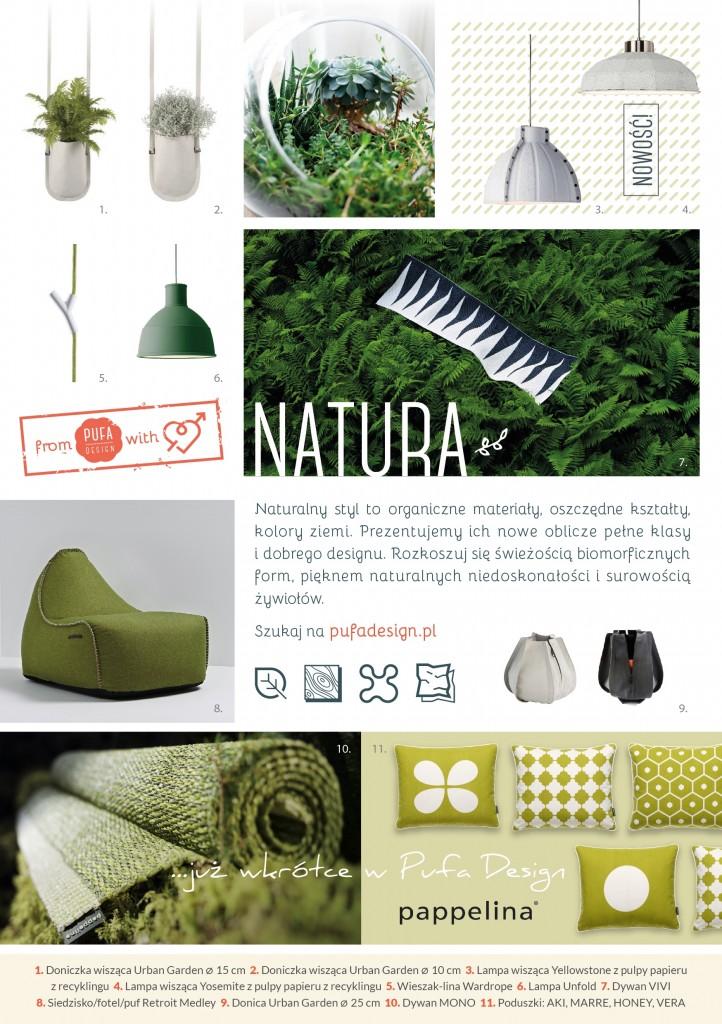 Natura, nowy moodbard wnętrzarski Pufa Design