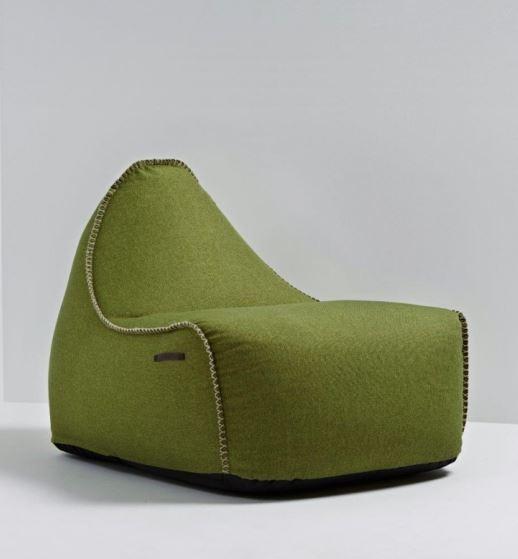 "Wygodny, jego struktura przypomina ""jutę"" - Siedzisko / fotel / puf RETROit Medley SACKit, Pufa Design"