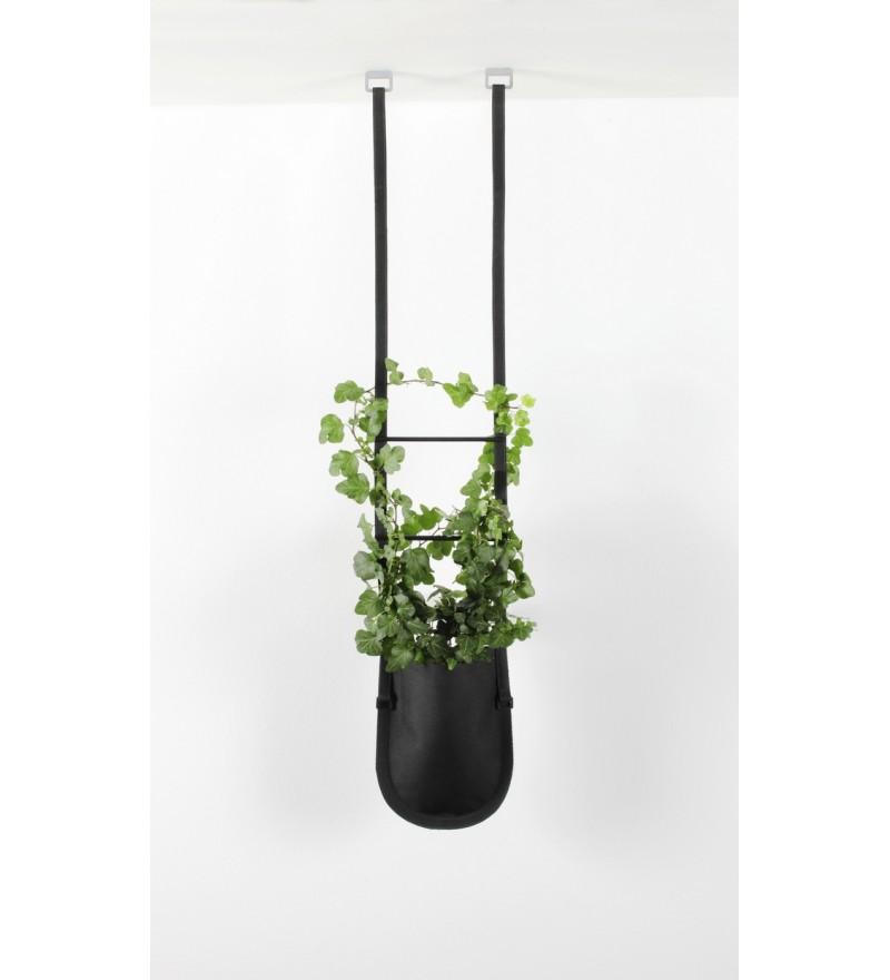 Wisząca donica Urban Garden Authentics - Ø 10 cm, czarna zieleń, Pufa Design