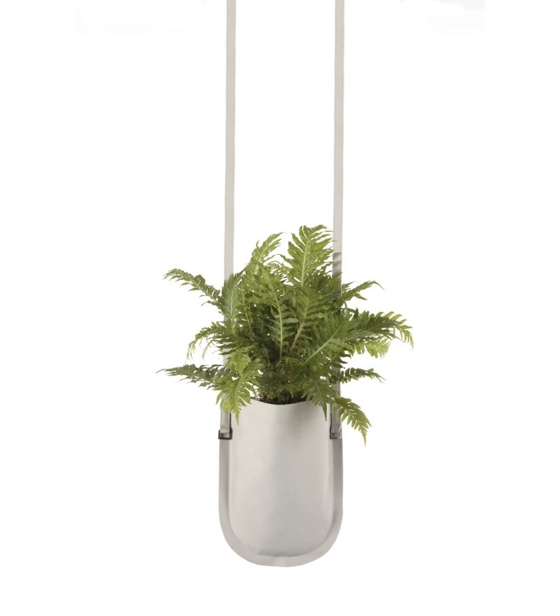 Wisząca donica Urban Garden Authentics - Ø 15 cm, beżowa, Pufa Design