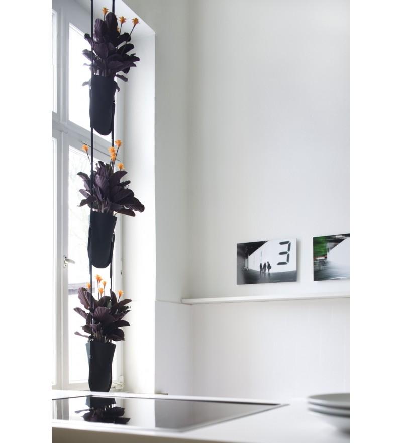 Wisząca donica Urban Garden Authentics - Ø 15 cm, czarna zieleń, Pufa Design