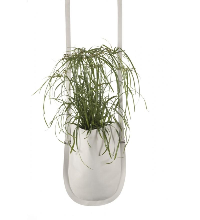 Wisząca donica Urban Garden Authentics - Ø 20 cm, beżowa, Pufa Design