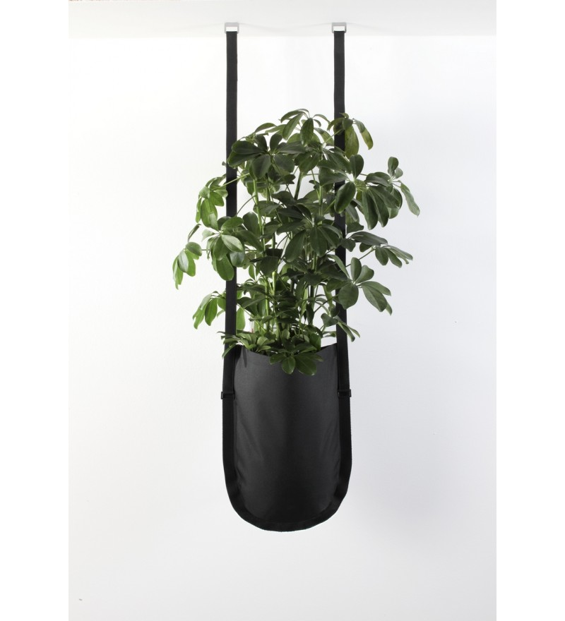Wisząca donica Urban Garden Authentics - Ø 20 cm, czarna zieleń, Pufa Design