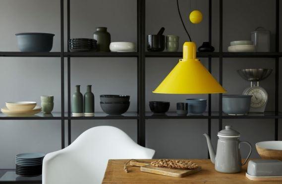 Lampy Reflex Stożek w aranżacji jadalni,TAR Design, Pufa Design