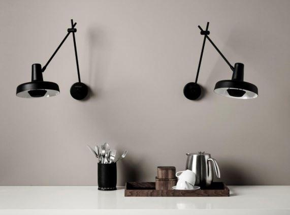 Nad blatem w kuchni pełnej zapachów - inspirowane japońską kreską lampy ścienne Arigato, do kupienia w Pufa Design