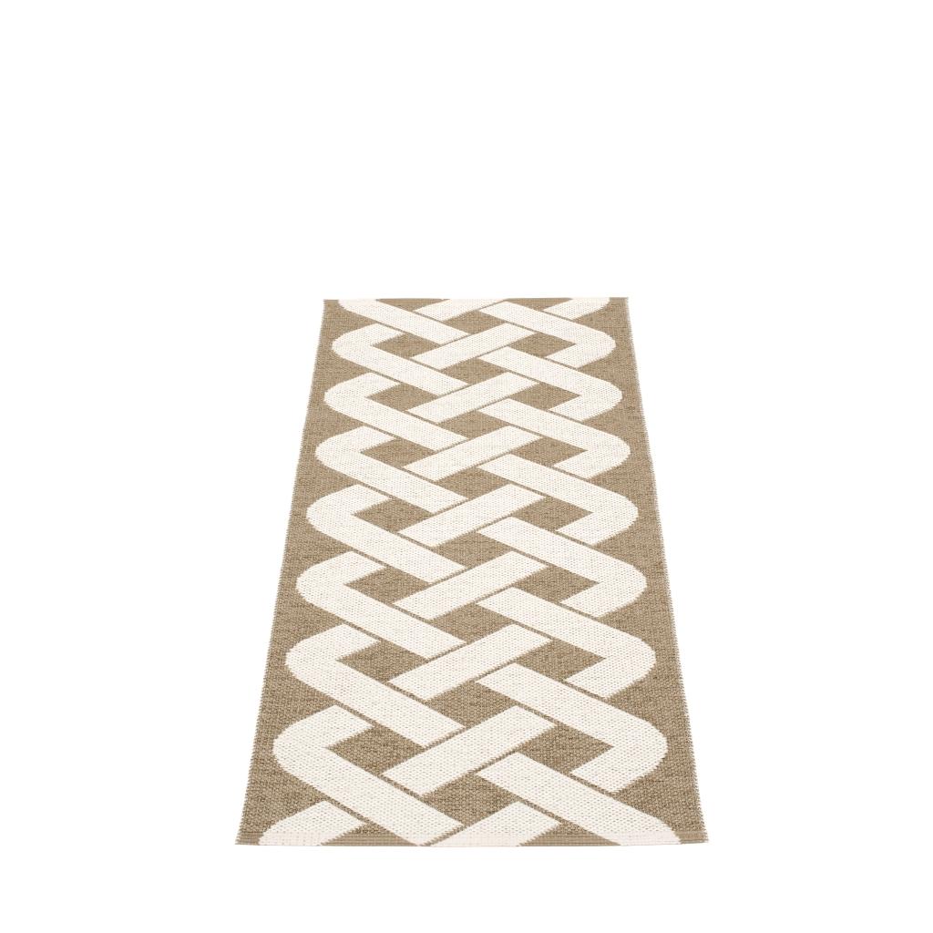 Chodnik tkany metodą tradycyjną w Szwecji. Pappelina, do kupienia w Polsce w sklepach z dobrym designem