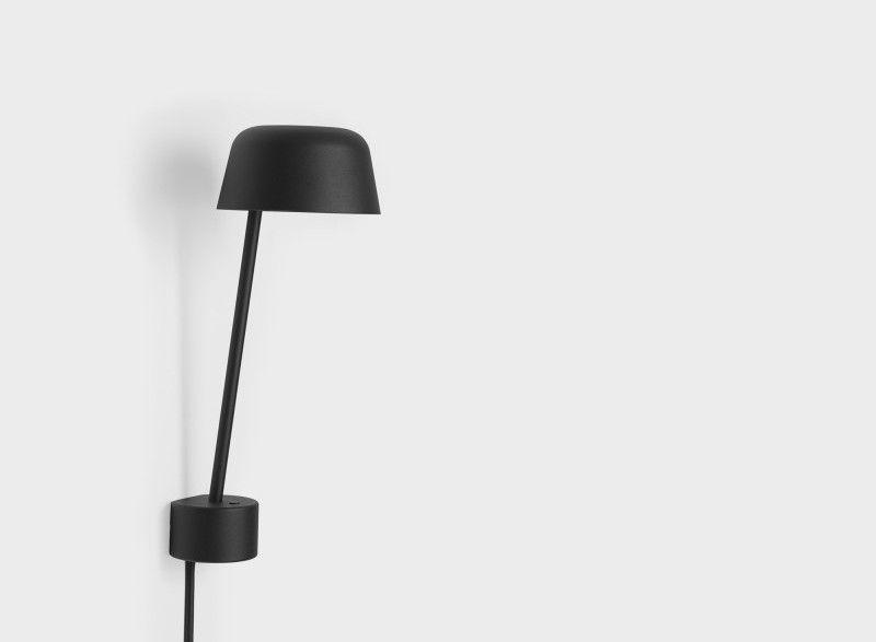 Kinkiet Lean Muuto - 3 kolory (biały, szary, czarny), Pufa Design