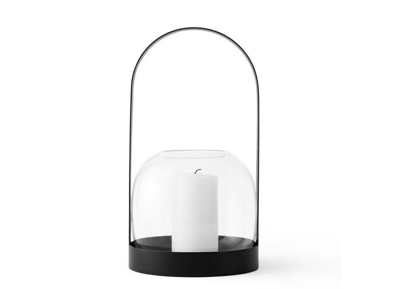 Lampion i świecznik w jednym - Carrie - w bieli i czerni, Pufa Design