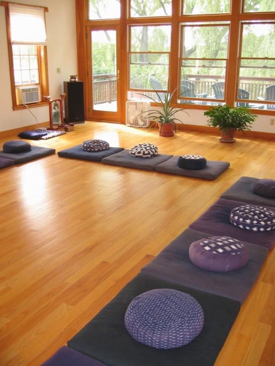 Przykład przestrzeni di jogi i medytacji z Digsdigs