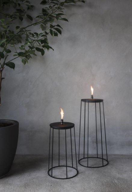 Lampy oliwne systemu kwietników drucianych Wire w trzech wielkościach, Pufa Design