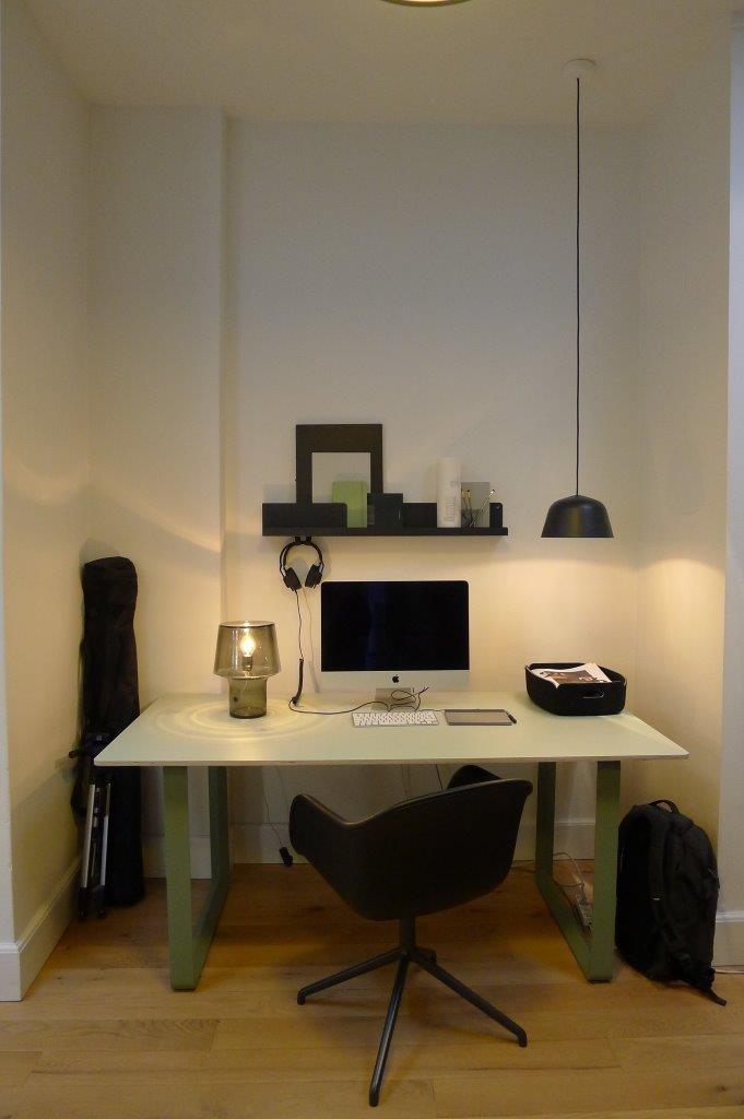 Idealne miejsce do pracy w tonacji b&w, fot. Pufa Design