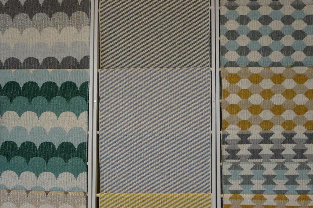 Nowe desenie dywanów tkanych tradycyjną metodą w Szwecji, fot. Pufa Design