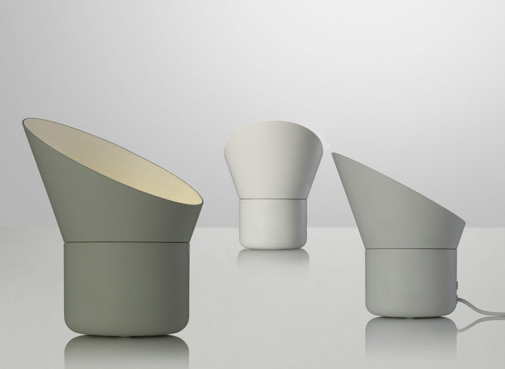 Lampa stołowa Cup w trzech pastelowych odcieniach, Muuto, Pufa Design