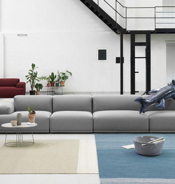Sofa modułowa Connect Muuto, Pufa Design