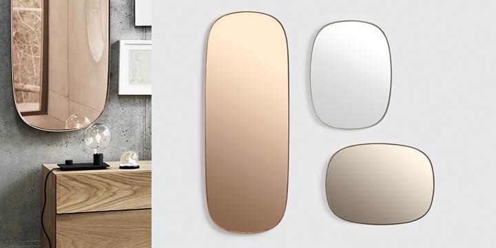 Lustro Framed - do wyboru są 3 odcienie i 3 rozmiary, Muuto, Pufa Design