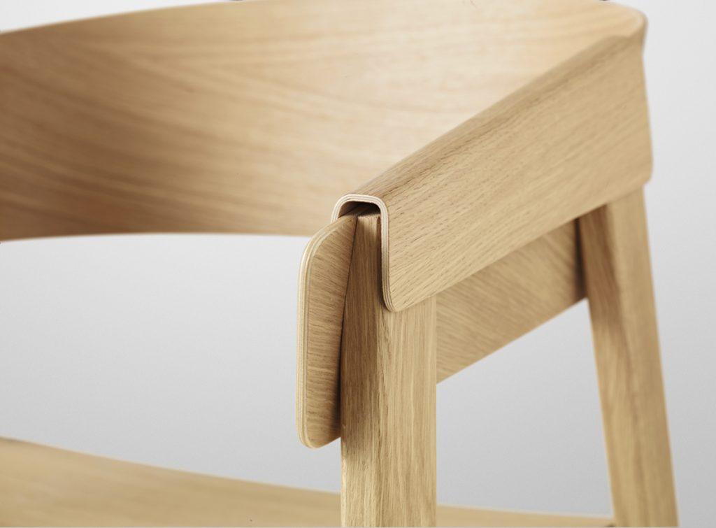 Detal doprowadzony do perfekcji, Cover Chair, Muuto, Pufa Design