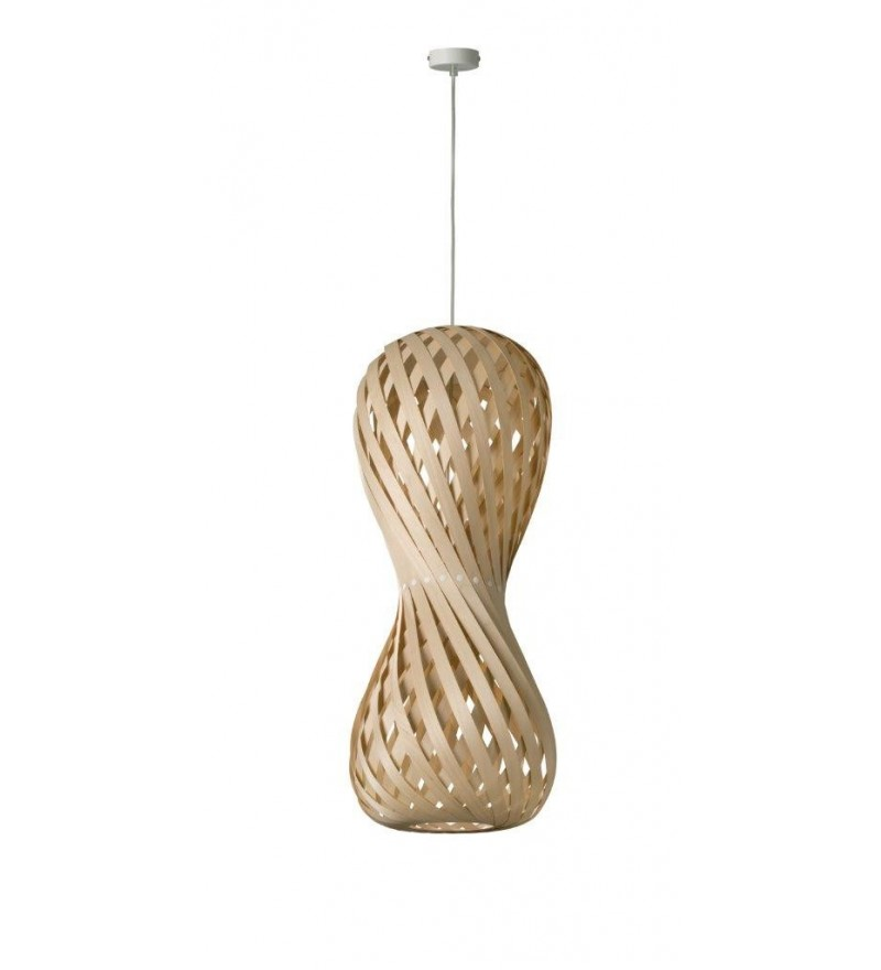 Zkręcona, naturalna, ekologiczna lampa Swing, Dreizehngrad, Pufa Design