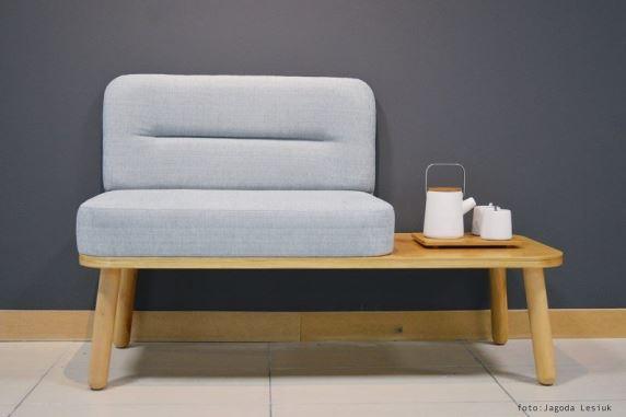 Sprytna ławka, siedzisko i stolik w jednym, nowość polskiej marki Happy Barok, Pufa Design