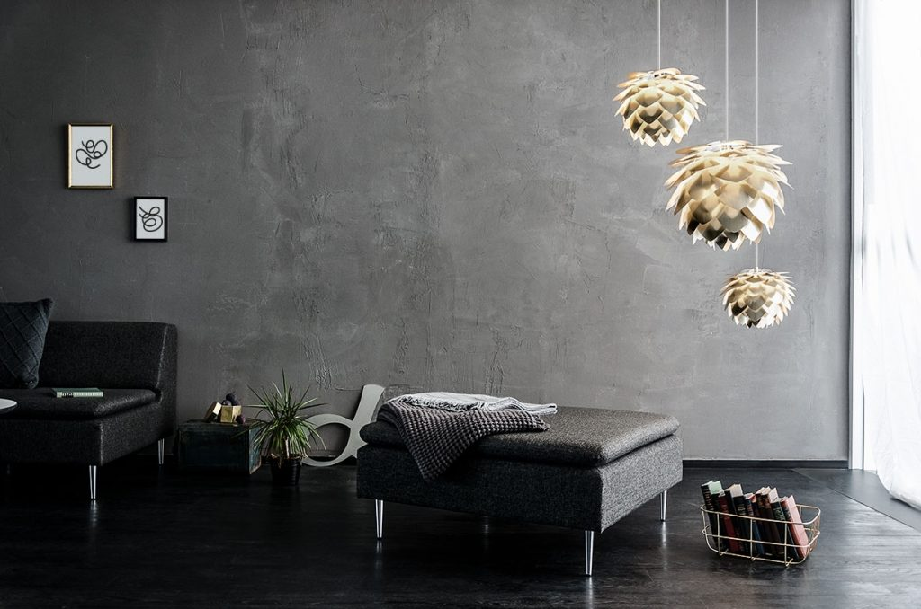 Lampy Silvia Brass, Vita Copenhagen, Pufa Design