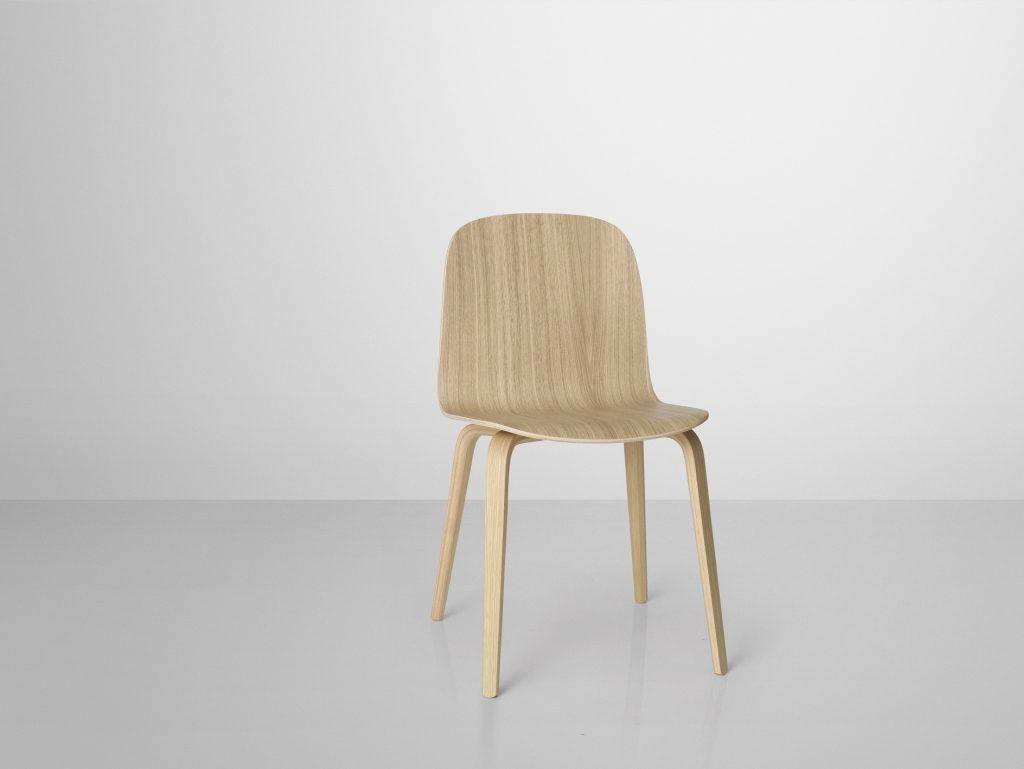 Krzesło Visu od Muuto to poezja harmonijnej linii siedziska i prostoty skandynawskiej myśli projektowej, Pufa Design