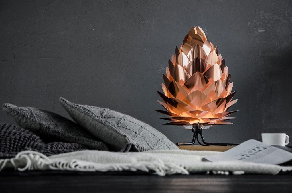 Lampa Conia mini w kolorze biel & miedź, Vita Copenhagen, Pufa Design