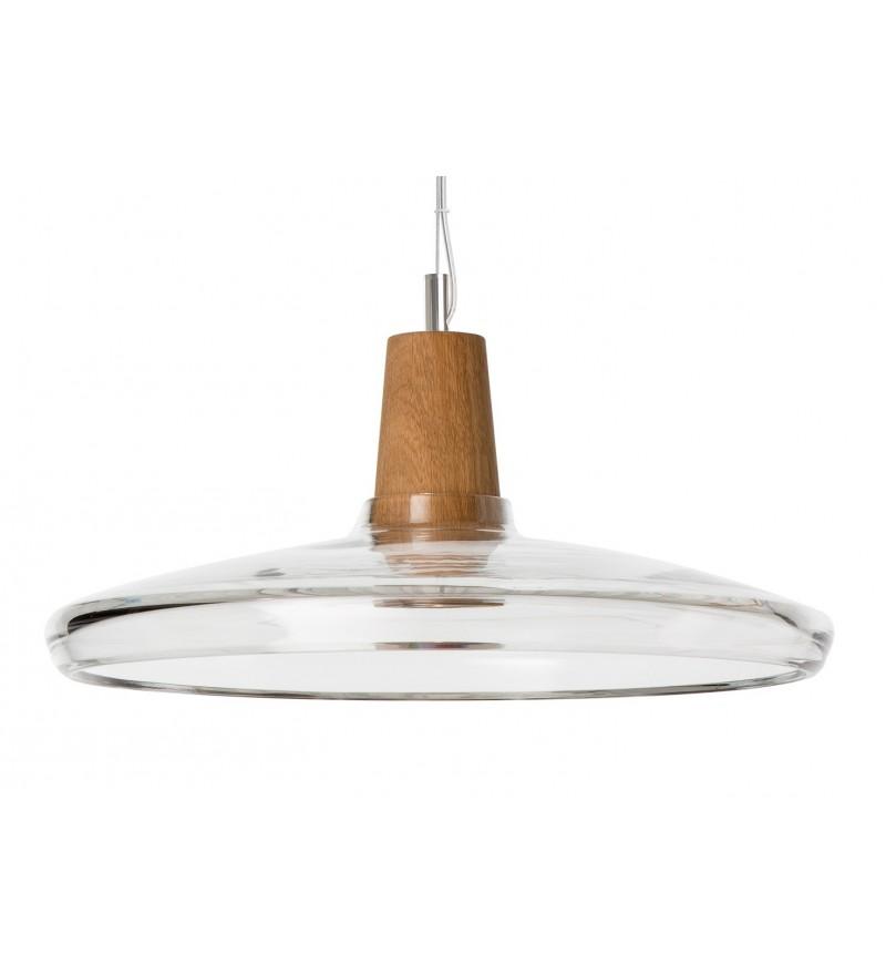 Lampa Industrial 36/08P z bezbarwnego szkła, śr 36 cm, Dreizehngrad, Pufa Design