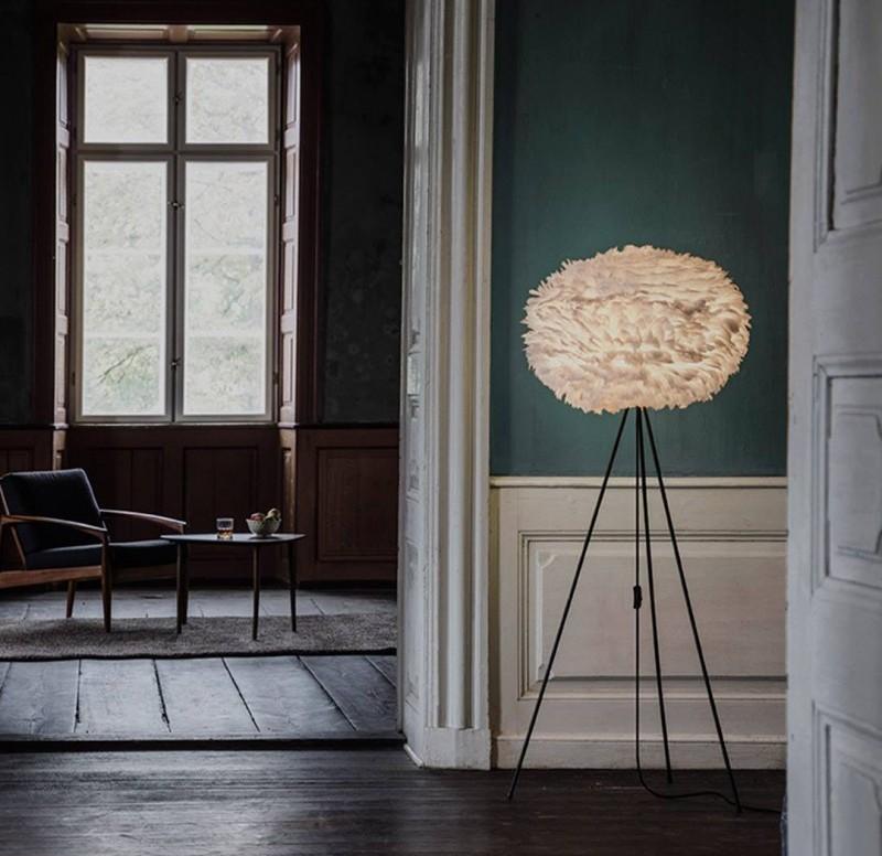 Przedpokój - lampa Eos, Vita Copenhagen, Pufa Design