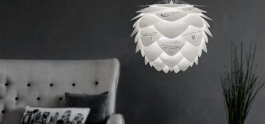 Wzory na abażurze możemy wydrukować na drukarce atramentowej, Pufa Design