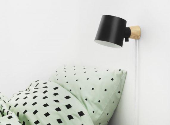 Kinkiet Rise dostępny jest w 5 odsłonach kolorystycznych, Normann Copenhagen, Pufa Design