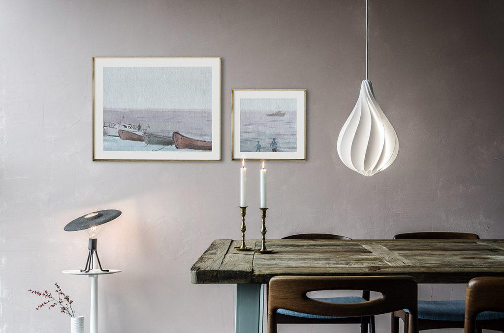 Alva w salonie, Pufa Design