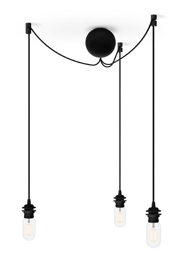 Grficznie - Cannonball Black, trzy kable w oplocie, Pufa Design