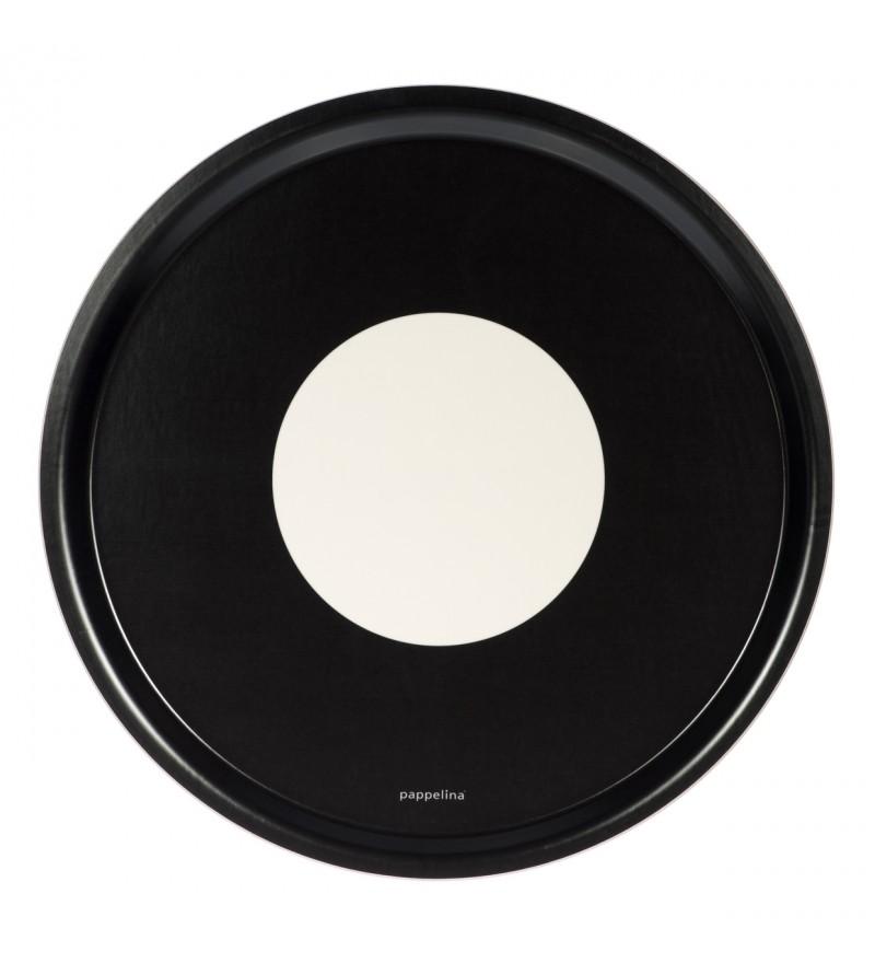 Okrągła taca Vera - black, Pappelina, Pufa Design