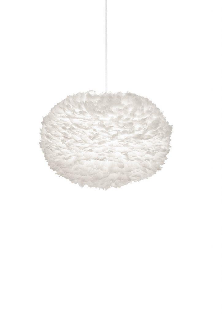 Lampa Eos XL, chętnie wybierana do oświetlenia sypialni, ze względu na lekkość i romantyczny charakter, Vita Copenhagen