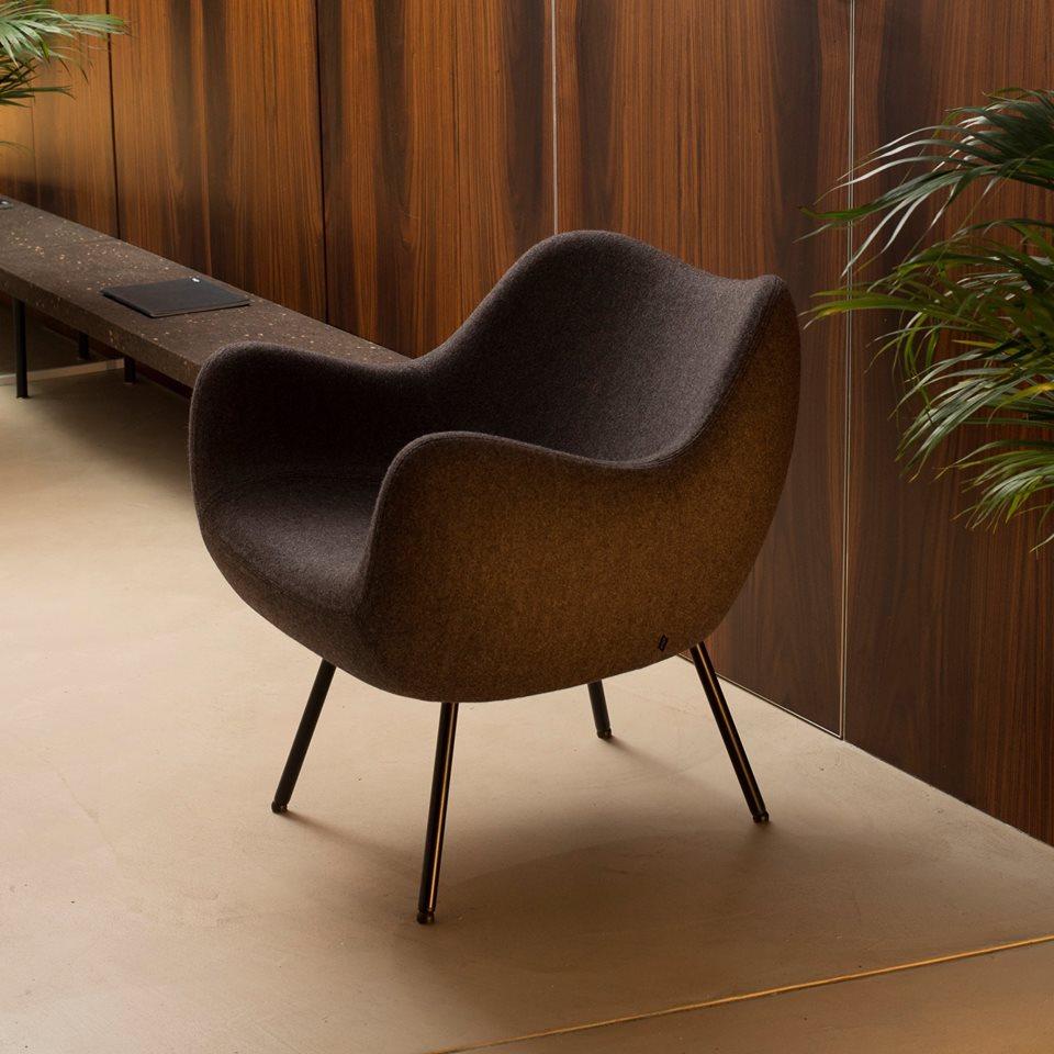 Fotel tapicerowany RM58 Soft H, tkanina FAME, Vzór, Pufa Design