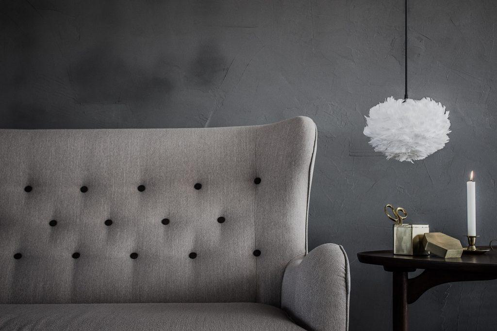 Szeroka gama rozmiarów lamp Eos daje dużą możliwość aranżacji, Vita Copenhagen, Pufa Design