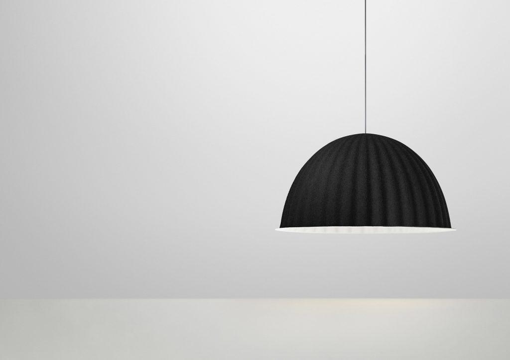 Minimalistyczna, stonowana, piękna, lampa Under The Bell, Muuto, Pufa Design