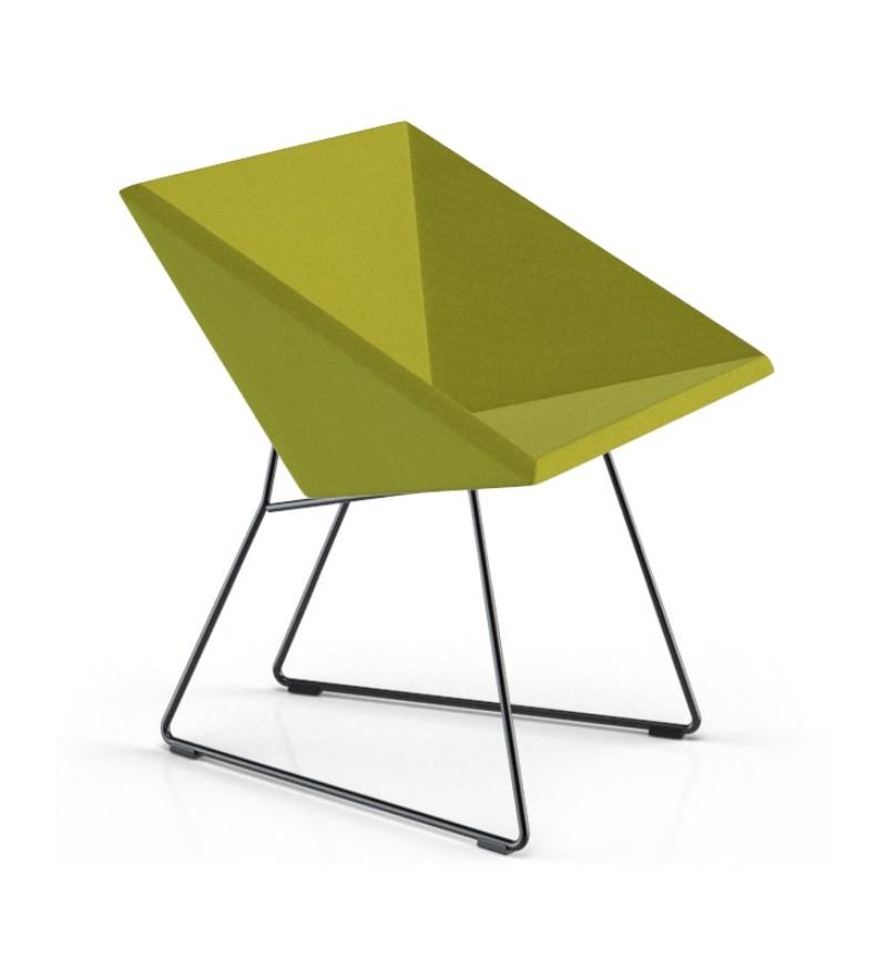 Fotel tapicerowany RM57, kubistyczny sznyt, tkanina Step, Vzór, Pufa Design